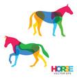 creative horse animal design vector image vector image
