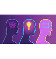 decision making process illumination in the head vector image vector image