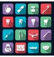 Dental Icons Flat vector image vector image