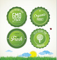 eco labels collection 1 vector image vector image