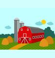 farm building rural agriculture farmland nature vector image vector image