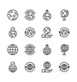 global related icon set vector image