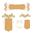 Gold retro of a frame or banners vector image vector image