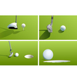 Golf series vector image vector image