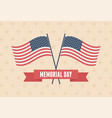 happy memorial day crossed flags stars background vector image vector image