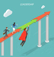 leadership flat isometric concept vector image vector image