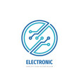 logo 2019 381 electronic technology circle vector image vector image