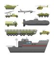 Military technic transport armor flat vector image