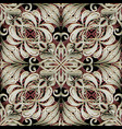modern 3d baroque damask seamless pattern greek vector image