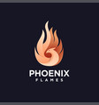 modern abstract fire phoenix logo icon template vector image vector image