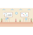 modern empty office interior in hi-tech style vector image