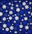 navy blue and white snowflakes seamless pattern vector image