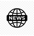 news world globe icon web newsletter and app vector image