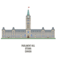 Parlament Ottawa vector image vector image