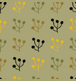 plant foliage repeat seamless pattern design vector image vector image