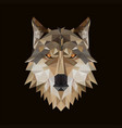 polygonal wolf head vector image