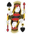 Queen of Spades no card vector image vector image