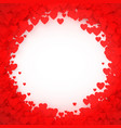 red heart frame heart confetti frame for banner vector image vector image