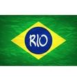 rio design Brazil Flag An old grunge flag of vector image