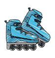 rollerblades vector image vector image