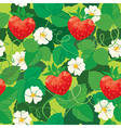 Seamless pattern Strawberries in heart shapes with vector image vector image