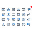 seo thin line related icons set vector image vector image