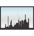 Silhouette factory isolated vector image