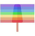 simple rainbow ice cream on stick vector image vector image