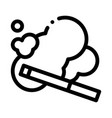 smoke cigarette icon outline vector image vector image