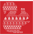 squirrel silhouette in christmas pattern on red vector image