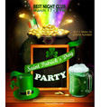 st patrick s day poster vector image vector image