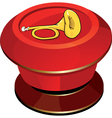 The red button with a trombone vector image vector image