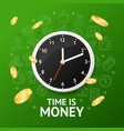 time is money concept with realistic detailed 3d vector image vector image