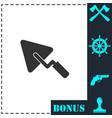 trowel icon flat vector image vector image