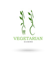 Vegetarian cuisine icons vector image