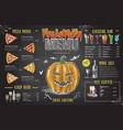 vintage chalk drawing halloween menu design vector image
