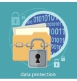 Data protection concept vector image
