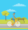 leisure in city park flat vector image