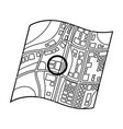 location on the maprealtor single icon in outline vector image