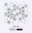 baby care concept in honeycombs vector image vector image