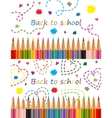 Back to school Colored pencils vector image