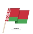 Belarus Ribbon Waving Flag Isolated on White vector image vector image