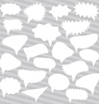 Blank Empty White Speech bubbles set on gray vector image vector image