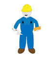 bricklayer vector image