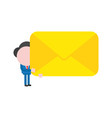 businessman holding closed envelope vector image vector image