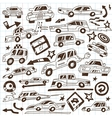 cars - doodles vector image vector image