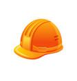 cartoon orange hemlet protection uniform hat vector image
