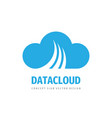 cloud hosting icon design computing technology vector image
