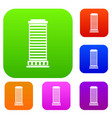 column set collection vector image vector image
