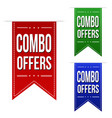 combo offers banner design set vector image vector image